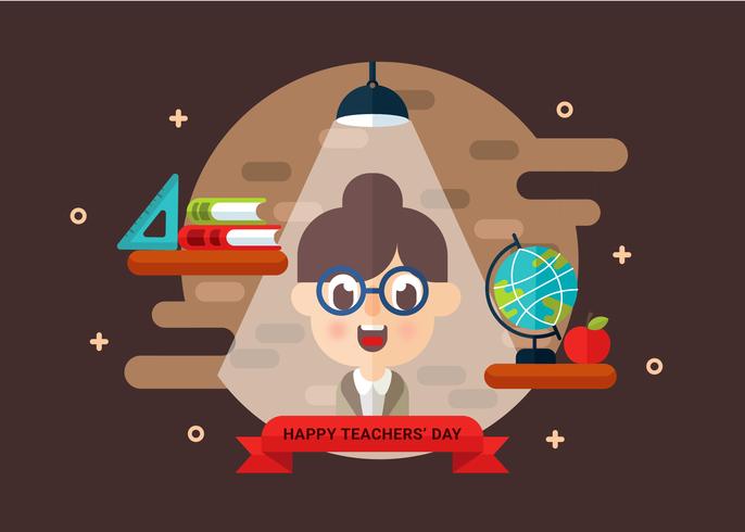 Día del maestro Vector