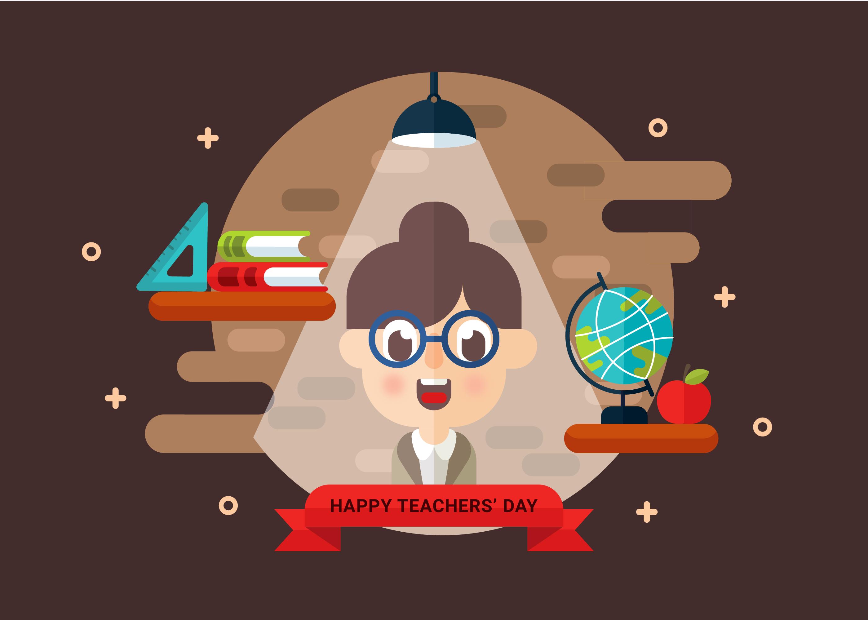Teachers Day Vector Download Free Vector Art Stock Graphics Images