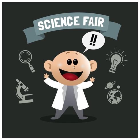 Menino da feira de ciência