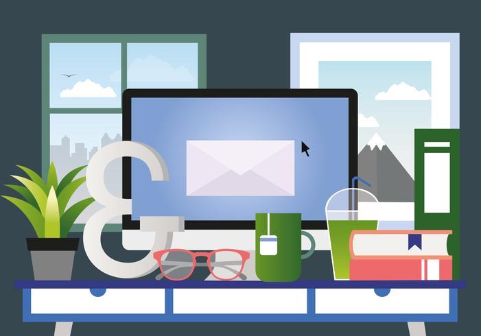 Vector ontwerpers kamer illustratie