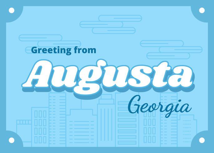 Cartão de Augusta Geórgia