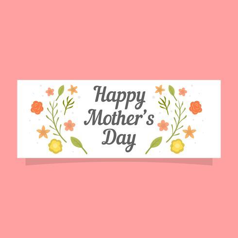 Plantilla de banner de Vector de día de madres plano