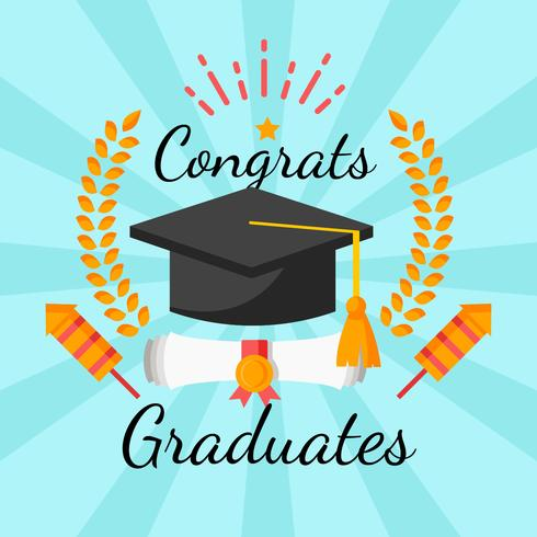 graduation mortar board template - graduation template design vector download free vector