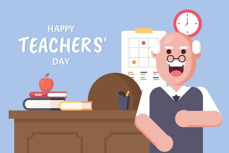 Vetor de dia de professores