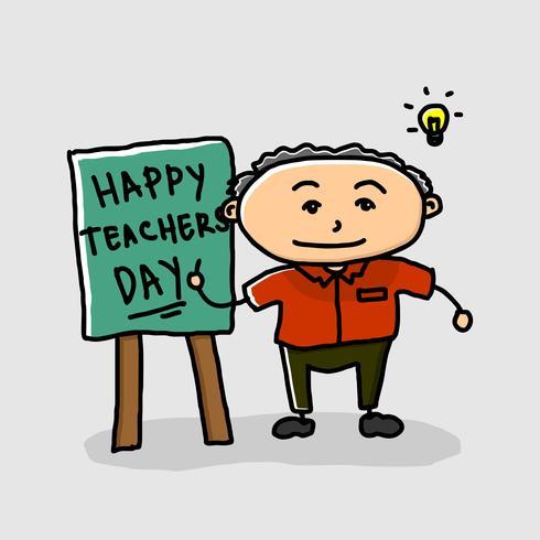 Gelukkige dag van de leerkracht
