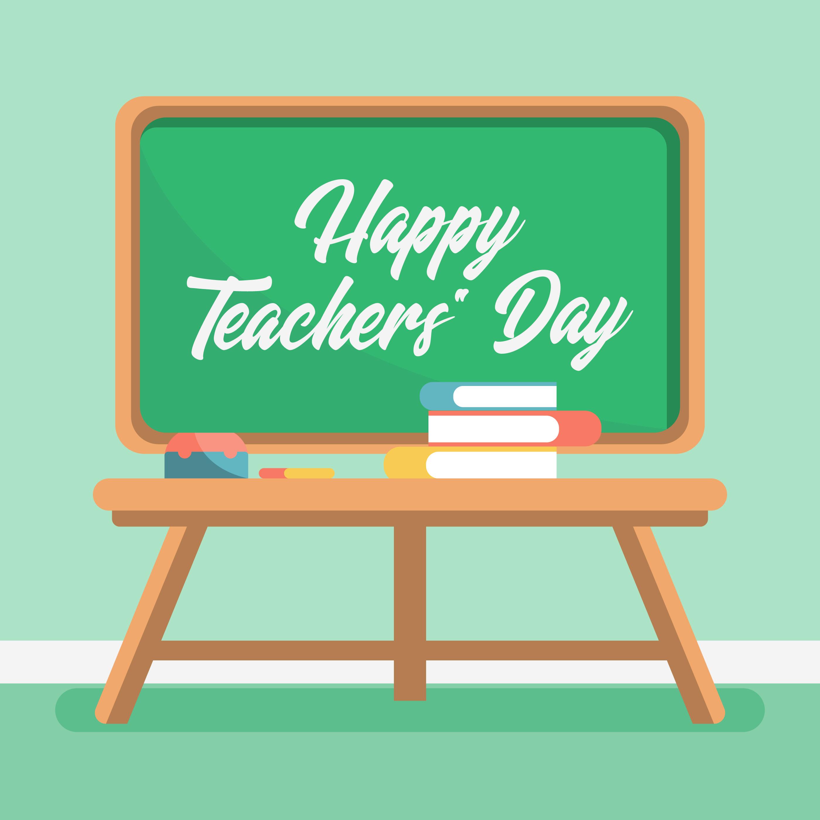 Happy Teachers Day Illustration