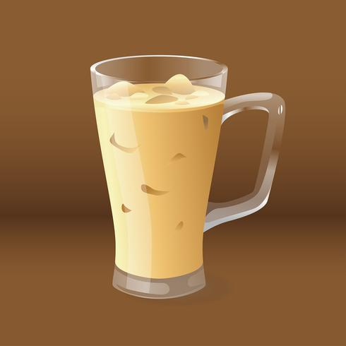 Realistic Iced Coffee Vector