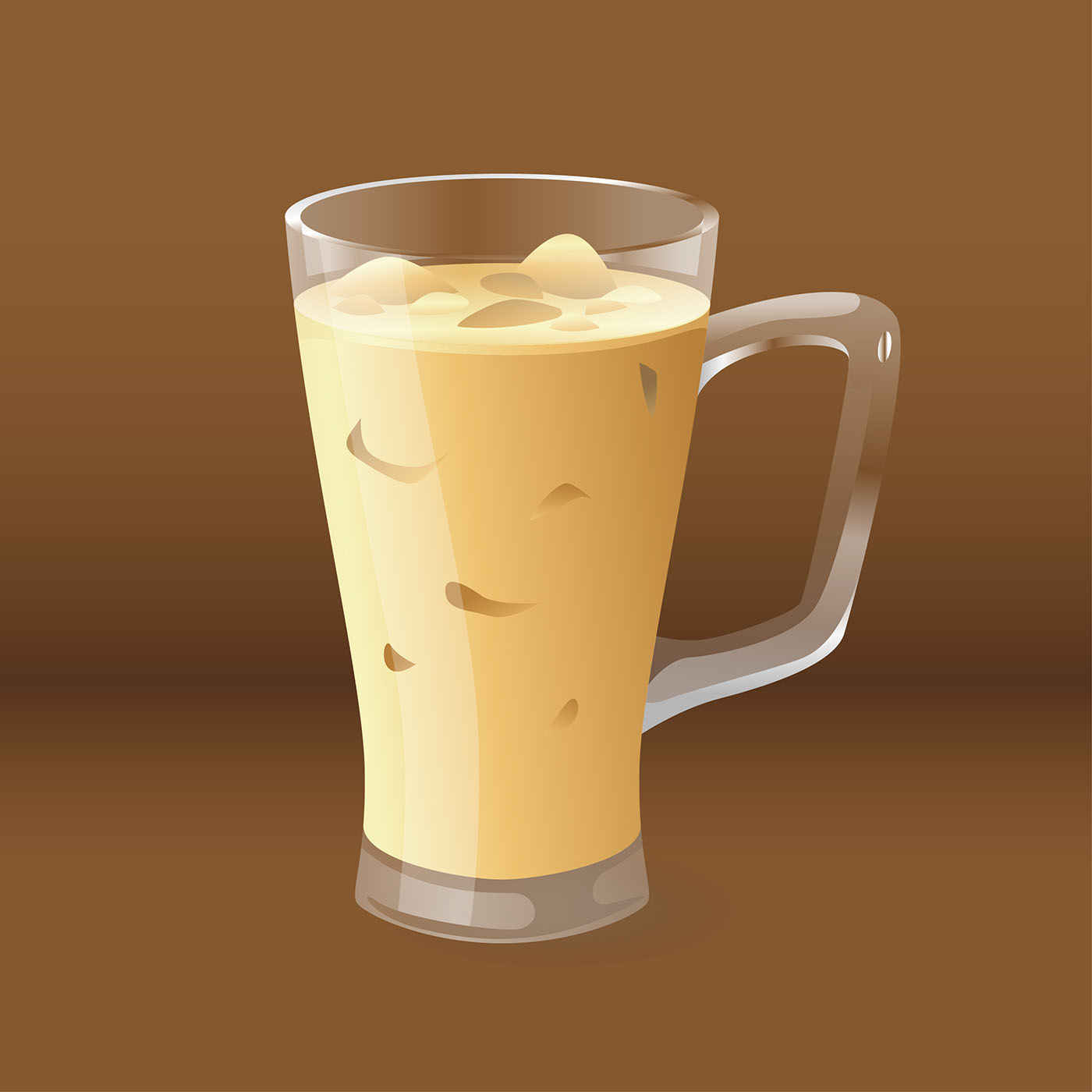 Realistic Iced Coffee Vector Download Free Vector Art