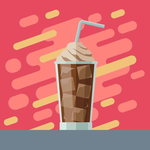 Eiskaffee-Illustrations-Vektor