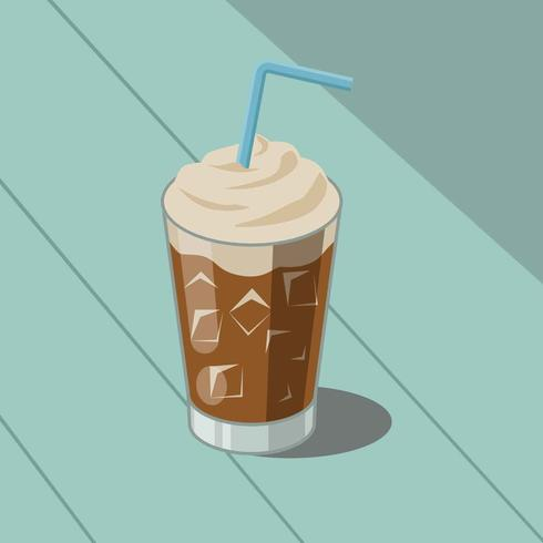 Iced Coffee Illustratie Vector