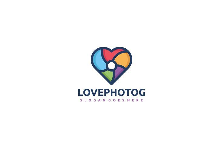 Logotipo colorido de fotografia