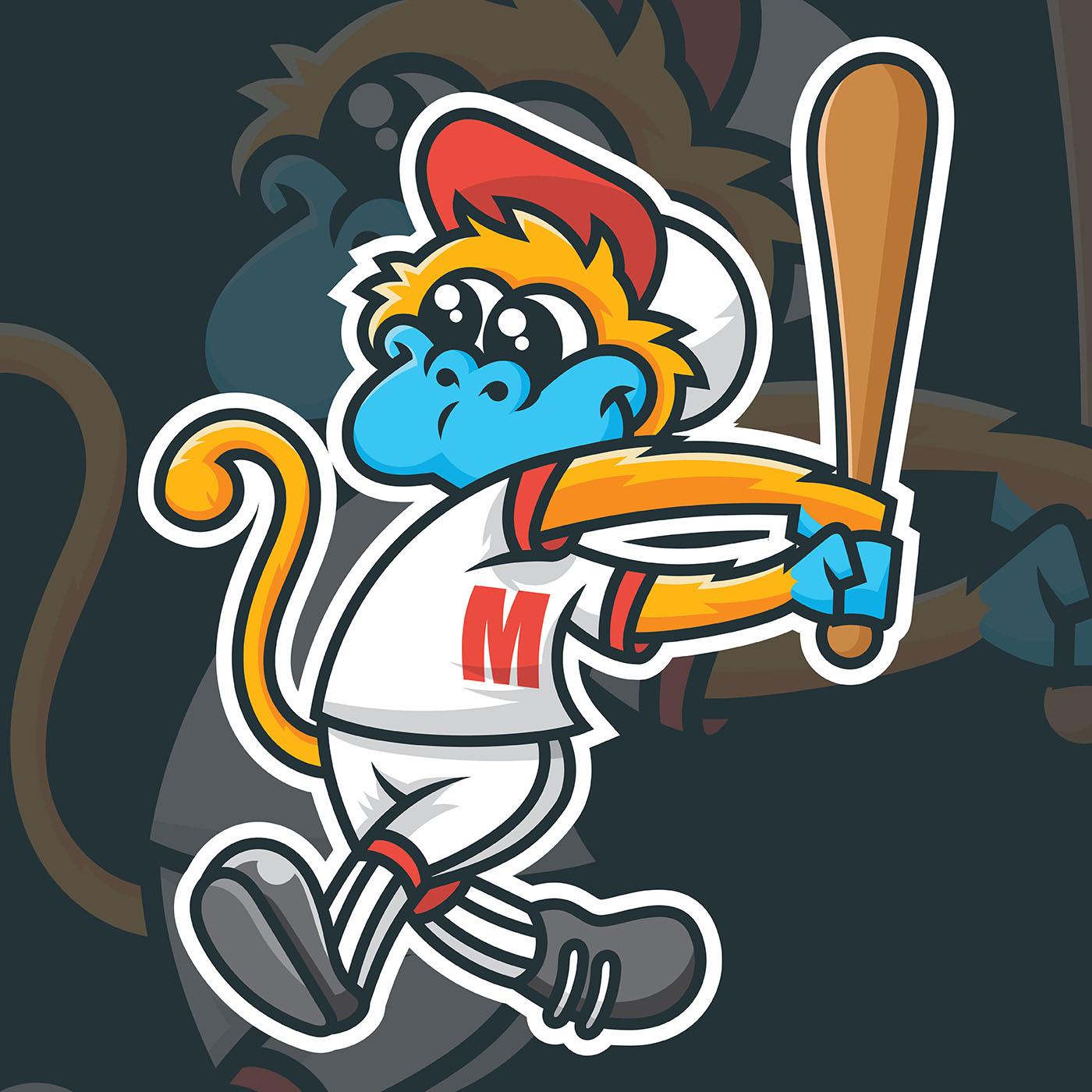 baseball mascot vector illustration
