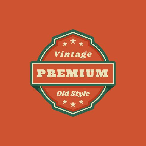 Label Template, Vintage style