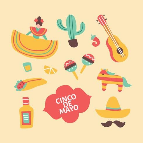 Colorful Doodles About Mexico