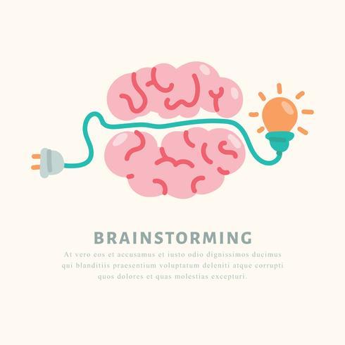 Cerebro teniendo una idea
