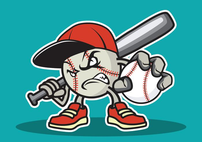 Honkbal mascotte illustratie