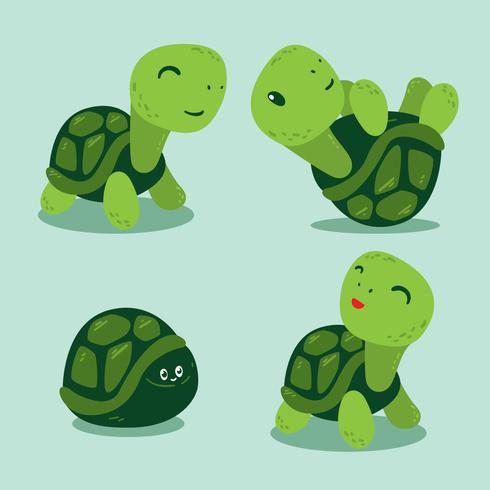Funny Turtles Vector