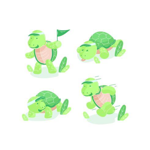 Vetor de desenhos animados de tartarugas