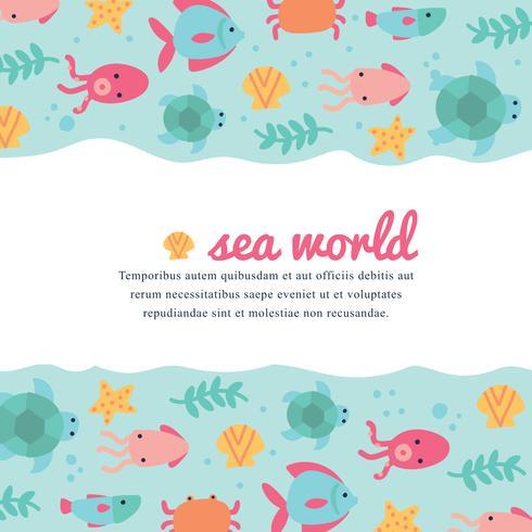 Netter und bunter Seewelthintergrund