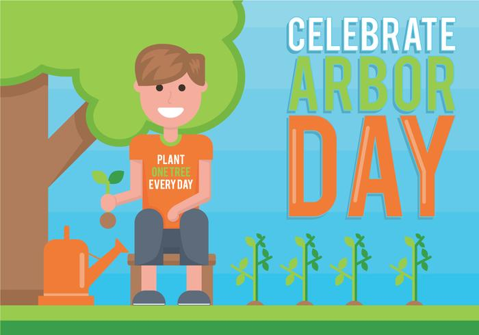 Arbor Day vectorillustratie