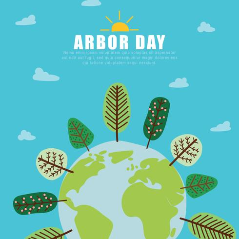 Die Welt mit Arbor Day