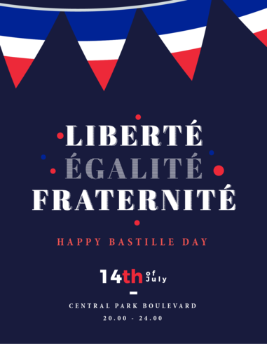 Cartaz de Fraternite de Liberte Egalite