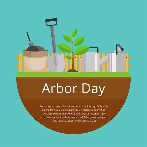 Vecteur de célébration de jour Arbor