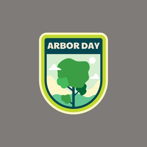 Arbor Day-badge