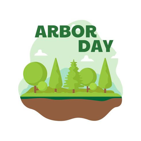 Arbor Day Landschaftsillustration