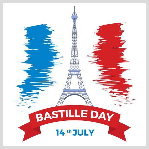 Platte Bastille dag Vector