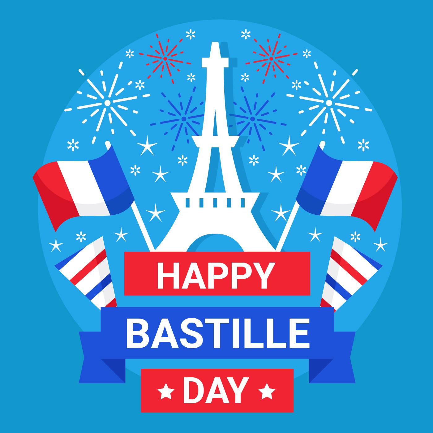bastille day 14 july vector