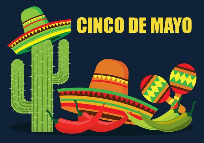 Ilustração De Cinco De Mayo Vector