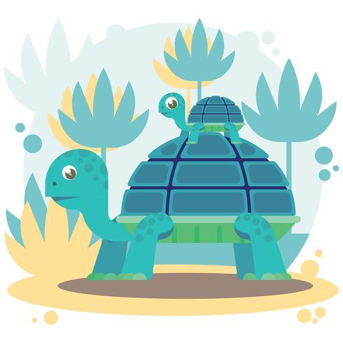 Illustration vectorielle de tortues