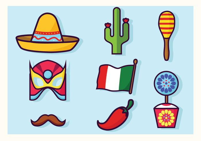 Cinco De Mayo Décorations Vector Pack