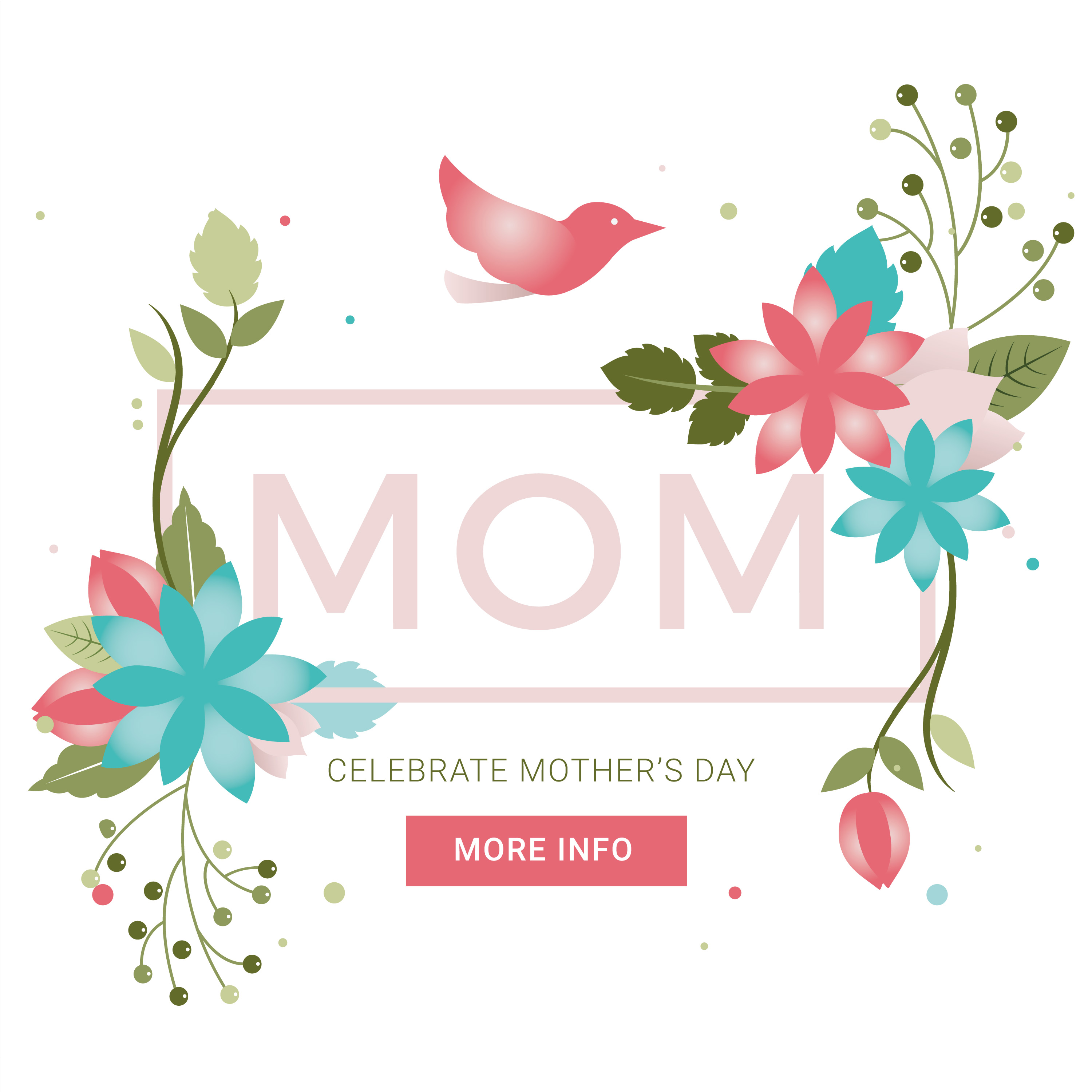 Vector Mothers Day Greeting Card Download Free Vector Art Stock