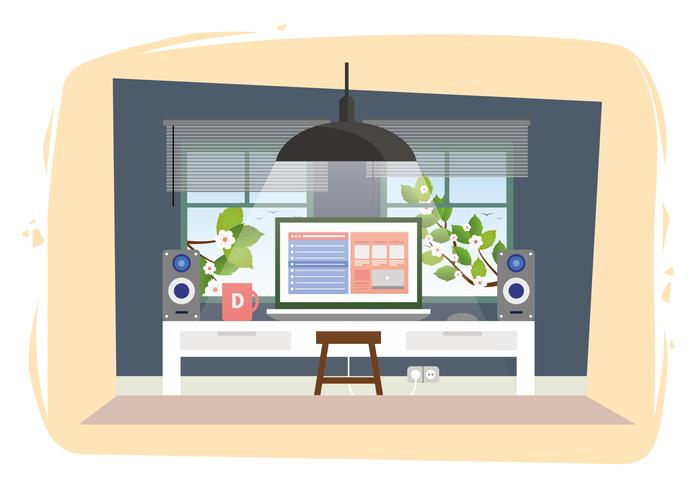 Illustration de chambre Vector Designers