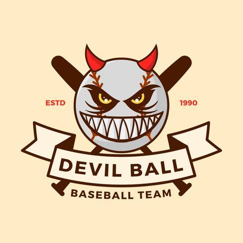 Illustration vectorielle de baseball mascotte plat vecteur