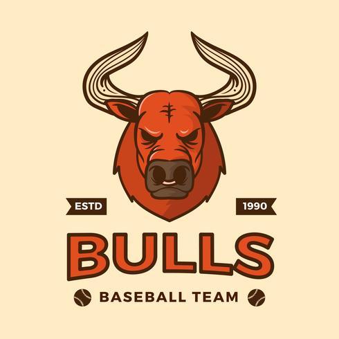 Platte honkbal mascotte vectorillustratie