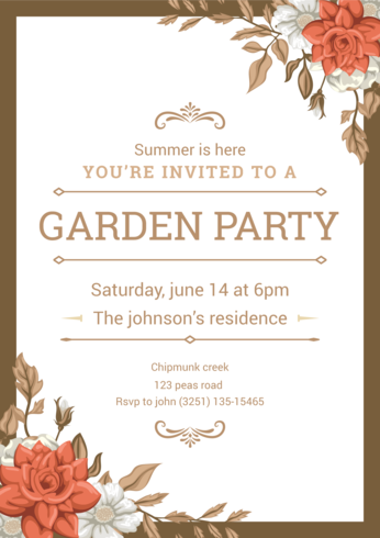 garden party invitation download free vector art stock graphics