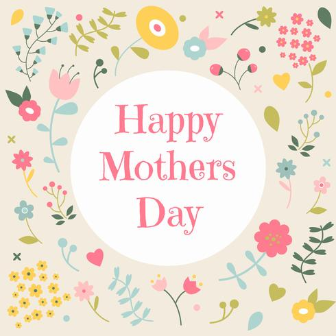 Cute Floral Background To Mother's Day