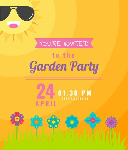 Outstanding Garden Party Invitation Vectors