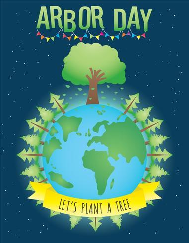 Vetor de cartaz do dia da árvore