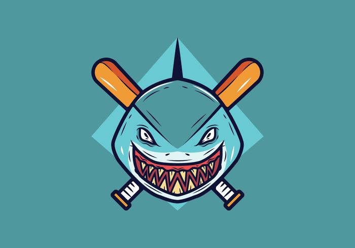 Vector de mascota de béisbol