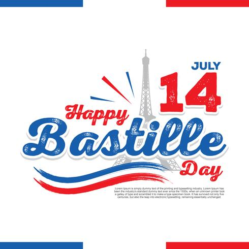 Happy Bastille Day Illustration Vector