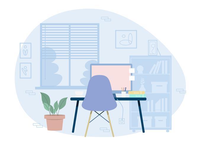 Vector Designer's Room Illustratie
