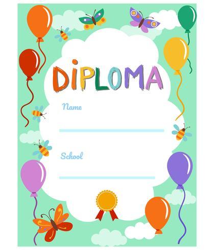 kleuterschool diploma 2 vectoren
