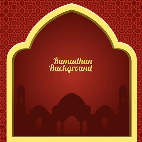 Vetor de fundo vermelho de Ramadã