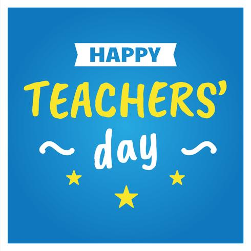 Cartaz feliz do dia dos professores