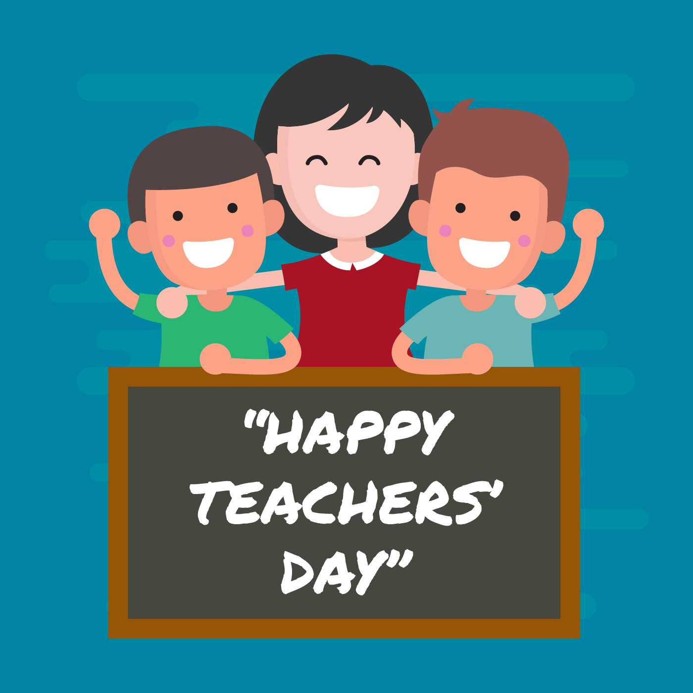 Happy Teachers Day Greeting Vector Illustration - Download ...