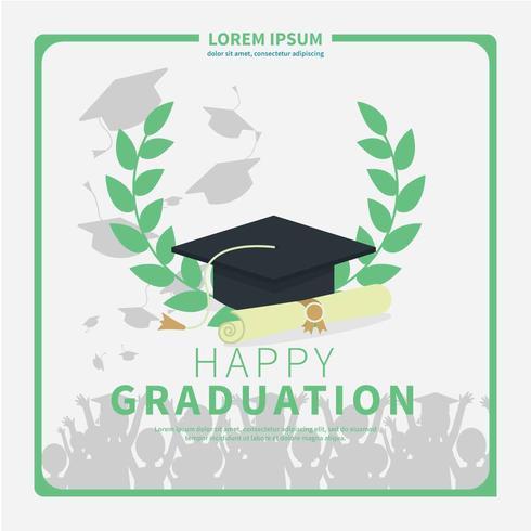 Illustration simple carte de Graduation
